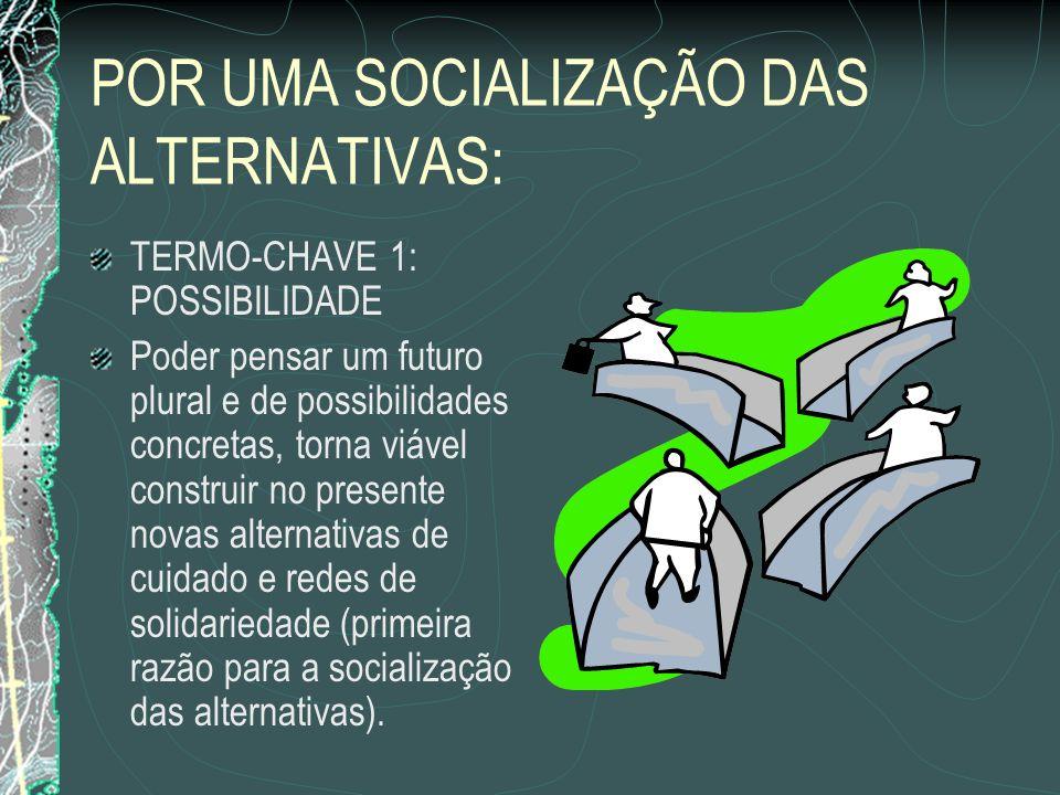 POR UMA SOCIALIZAÇÃO DAS ALTERNATIVAS: