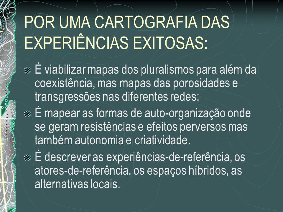 POR UMA CARTOGRAFIA DAS EXPERIÊNCIAS EXITOSAS: