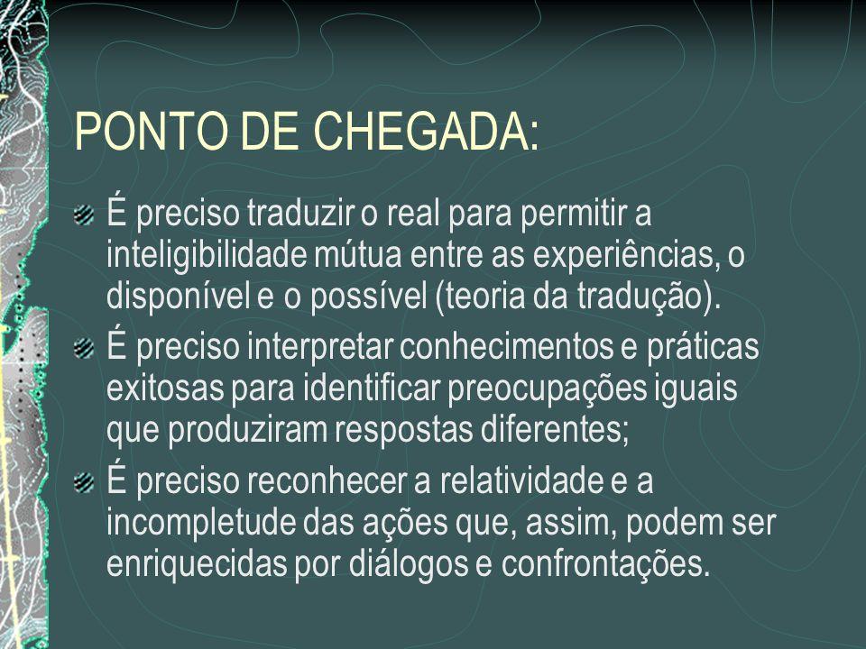 PONTO DE CHEGADA: