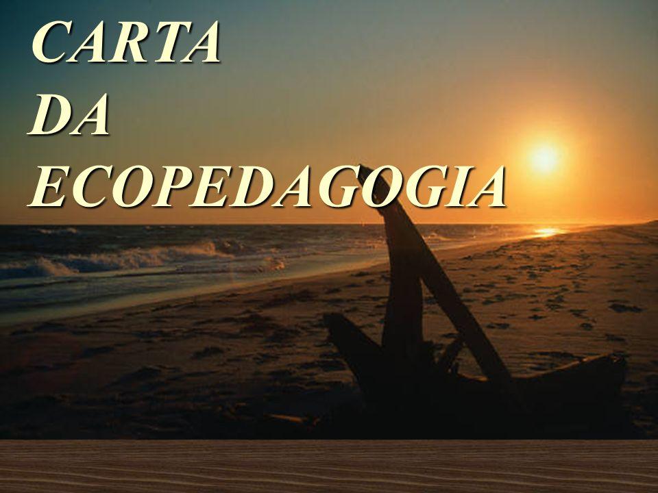 CARTA DA ECOPEDAGOGIA