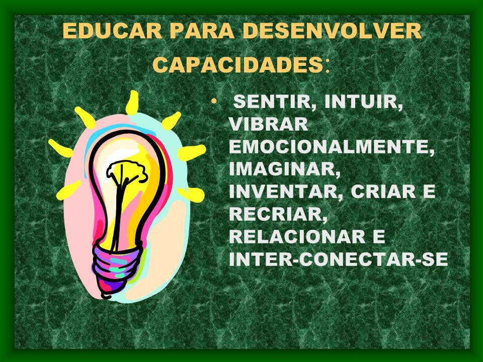 EDUCAR PARA DESENVOLVER CAPACIDADES:
