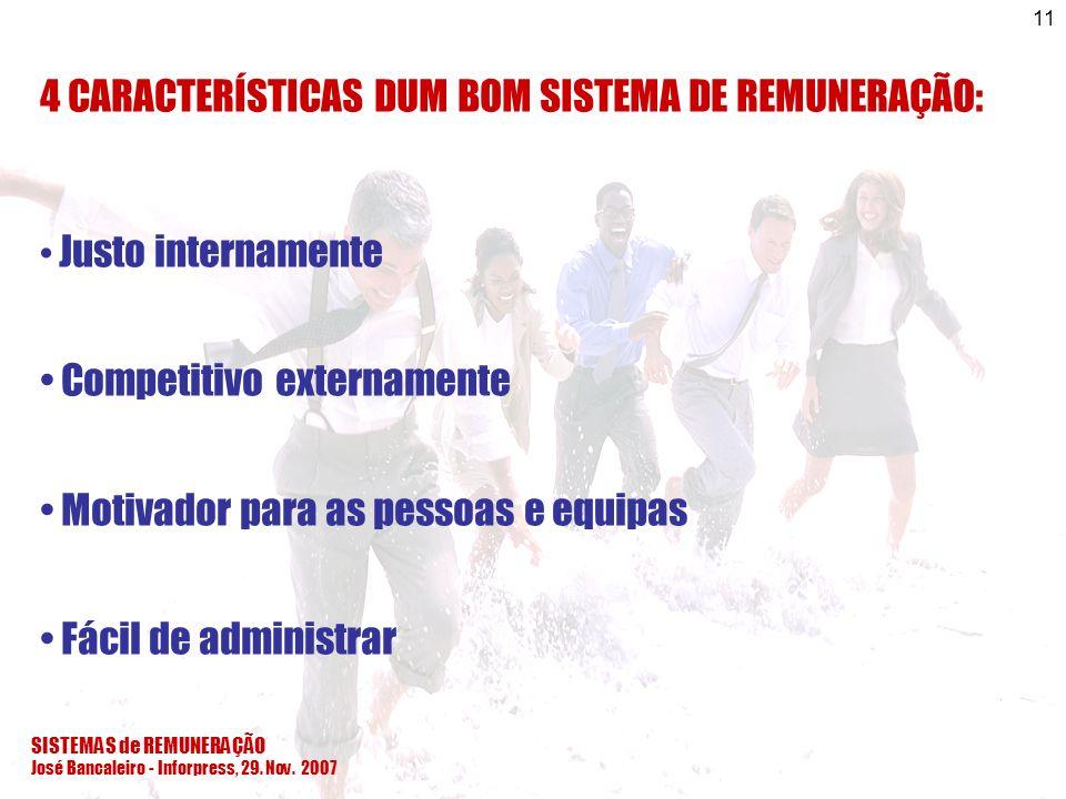 4 CARACTERÍSTICAS DUM BOM SISTEMA DE REMUNERAÇÃO: