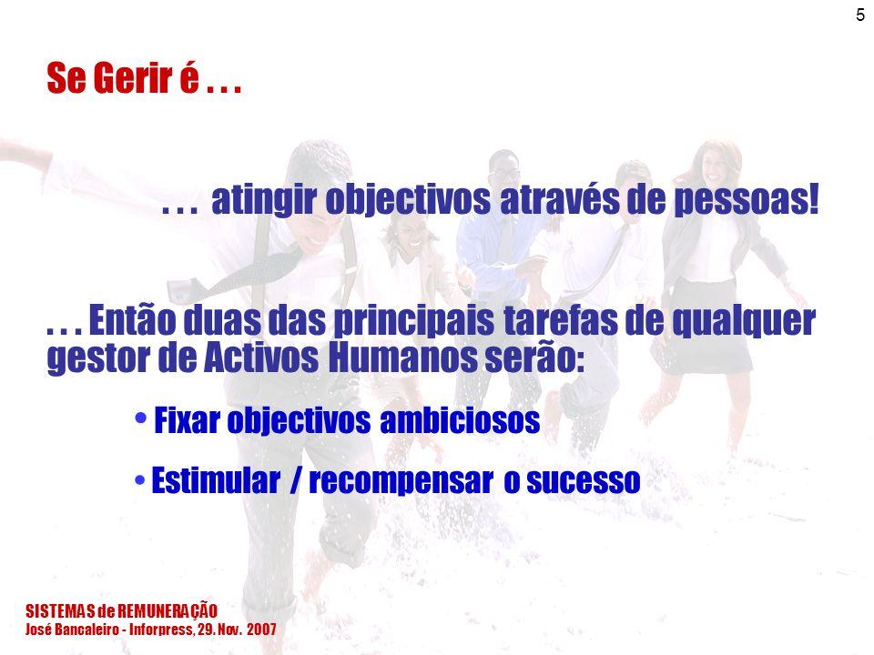 . . . atingir objectivos através de pessoas!