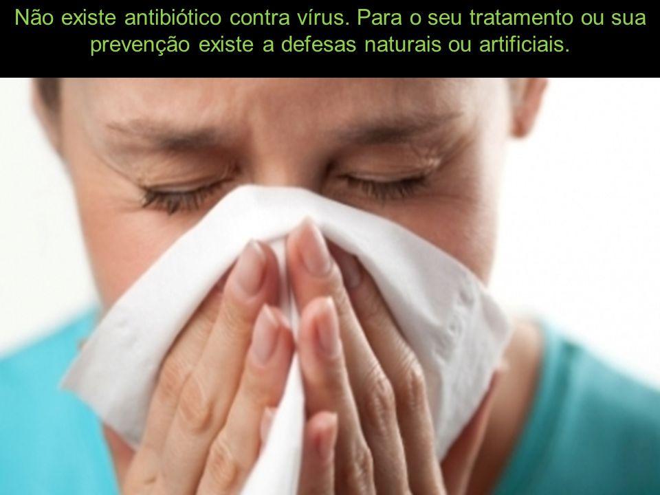 Não existe antibiótico contra vírus