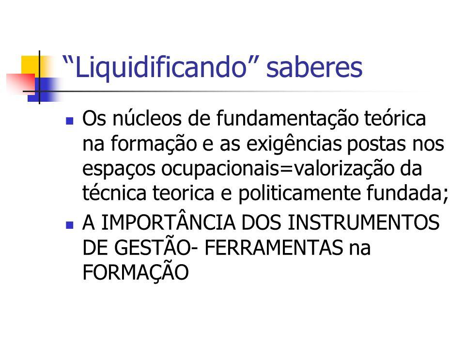 Liquidificando saberes