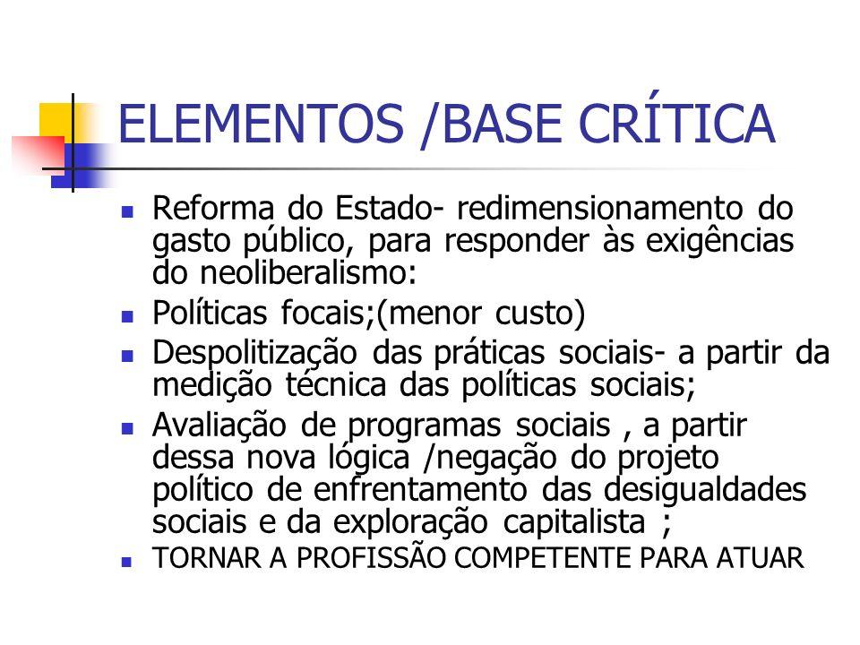 ELEMENTOS /BASE CRÍTICA