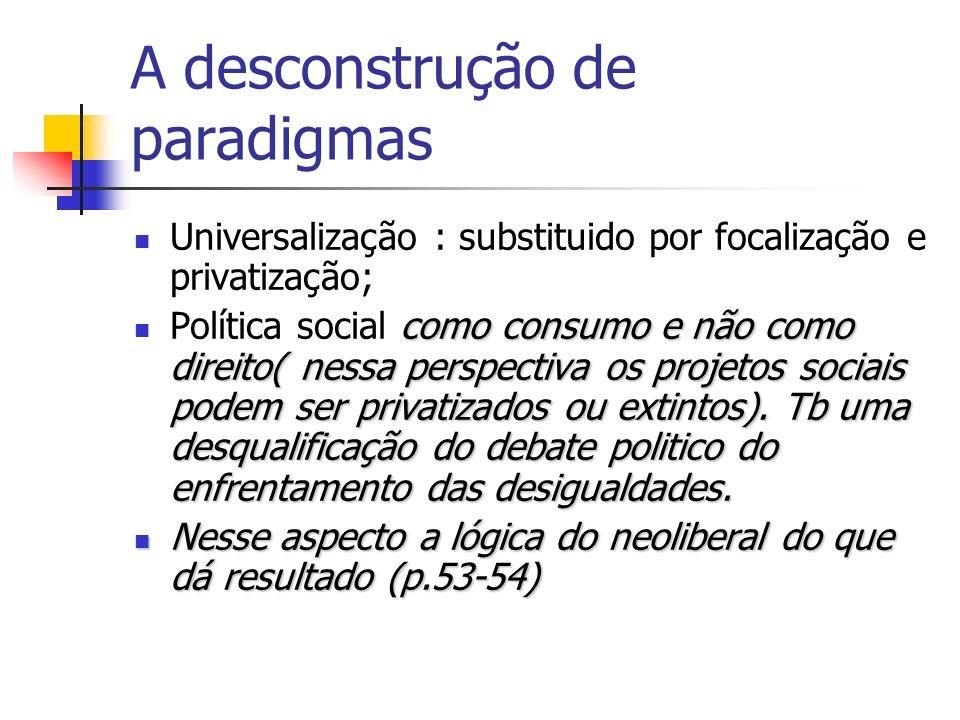 A desconstrução de paradigmas