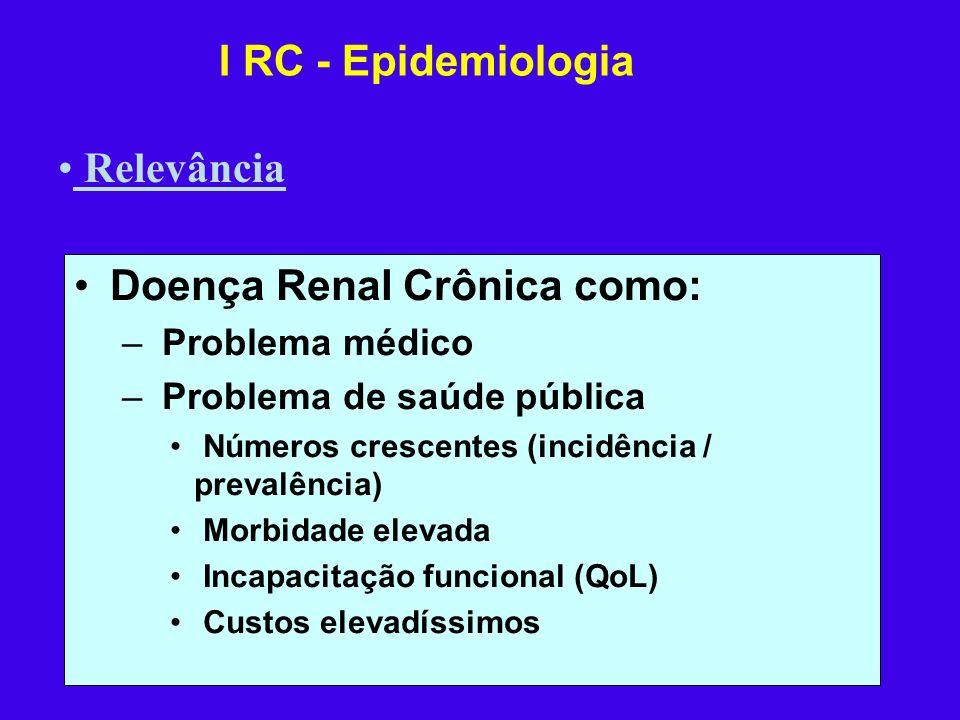 Doença Renal Crônica como: