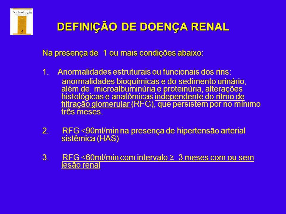 DEFINIÇÃO DE DOENÇA RENAL
