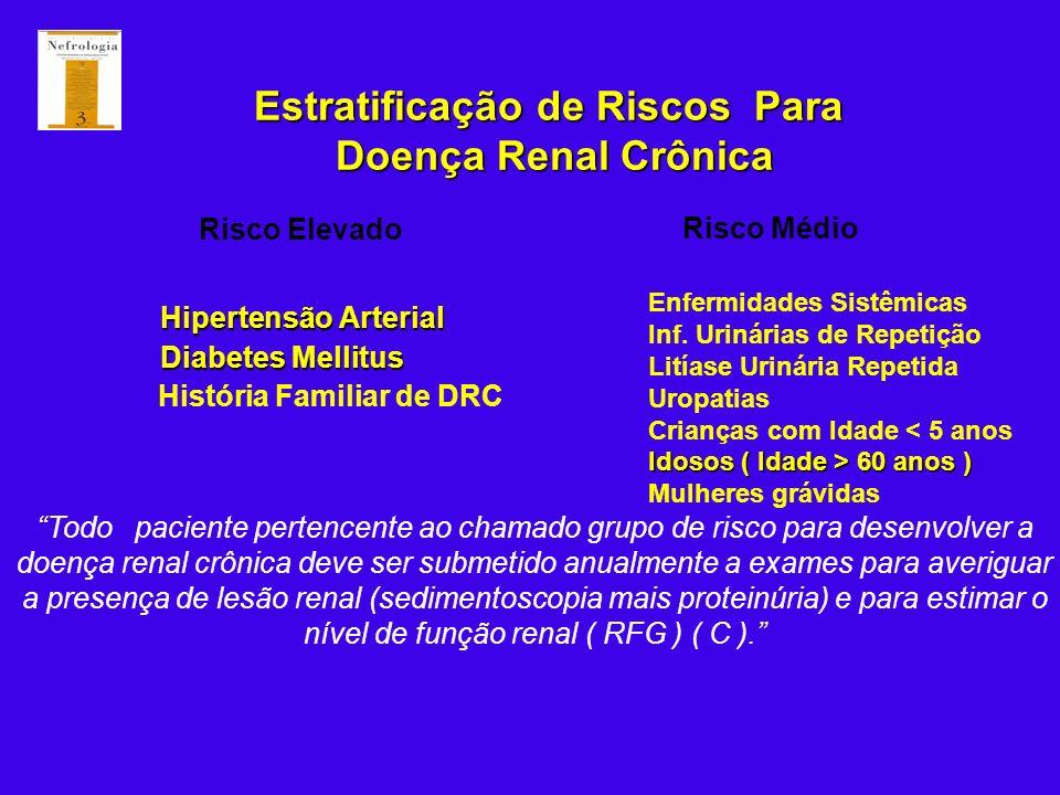 Estratificação de Riscos Para Doença Renal Crônica