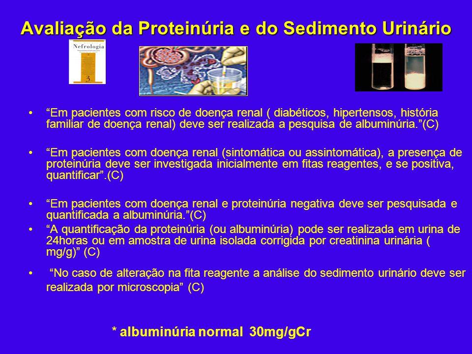 Avaliação da Proteinúria e do Sedimento Urinário