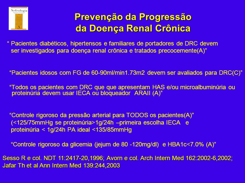 Prevenção da Progressão da Doença Renal Crônica