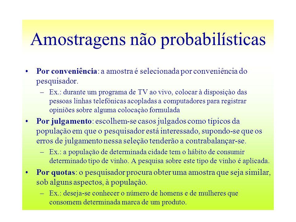 Amostragens não probabilísticas