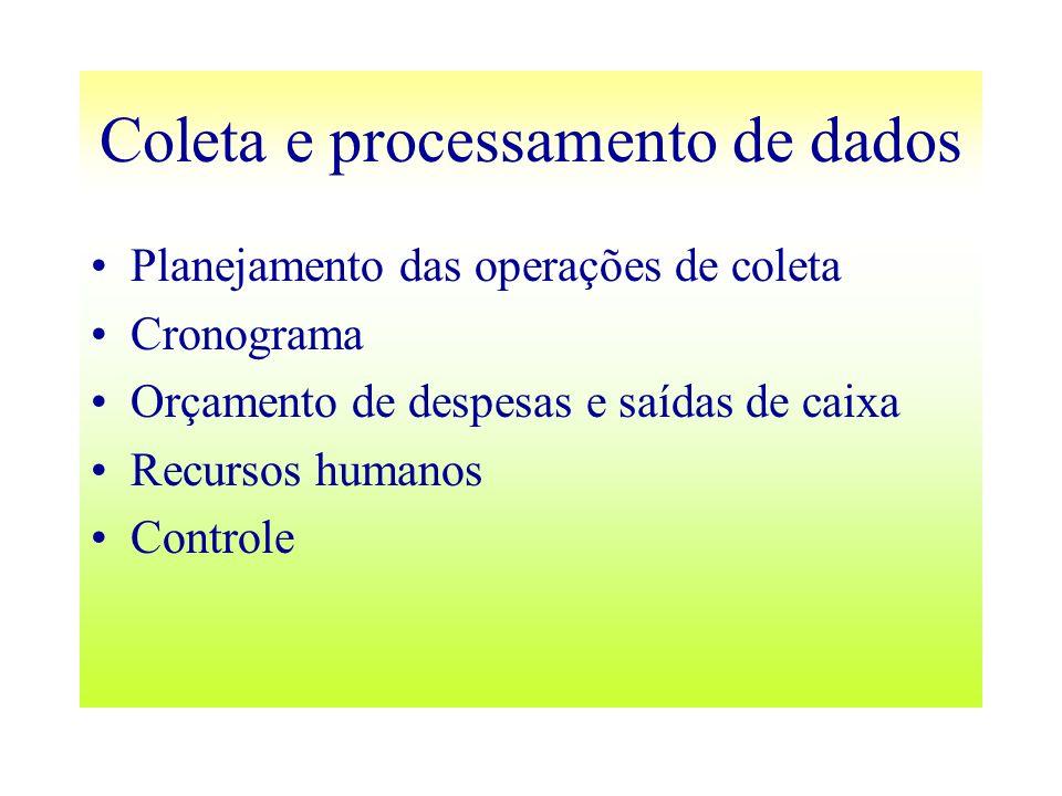 Coleta e processamento de dados