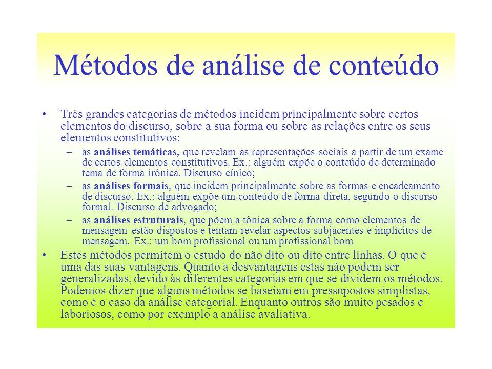 Métodos de análise de conteúdo