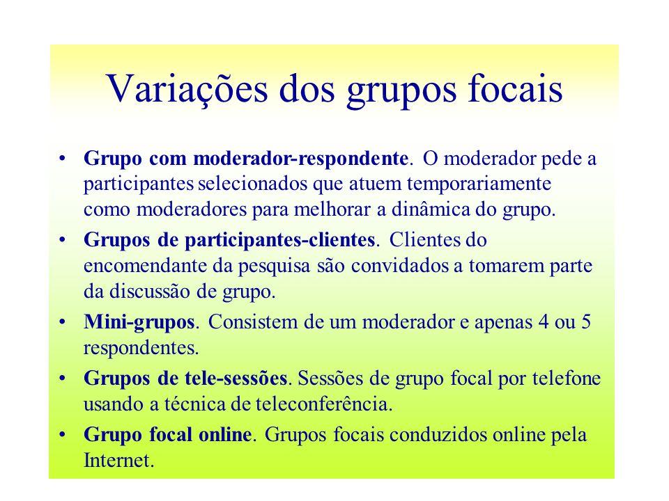 Variações dos grupos focais