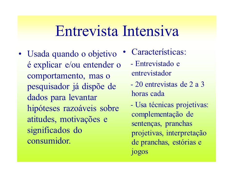 Entrevista Intensiva Características: