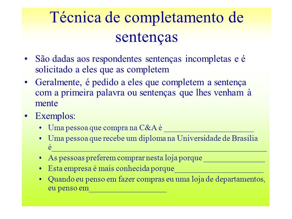 Técnica de completamento de sentenças