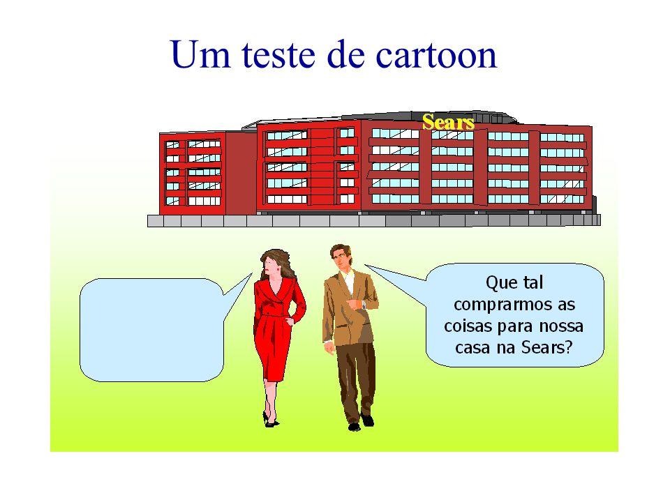 Um teste de cartoon