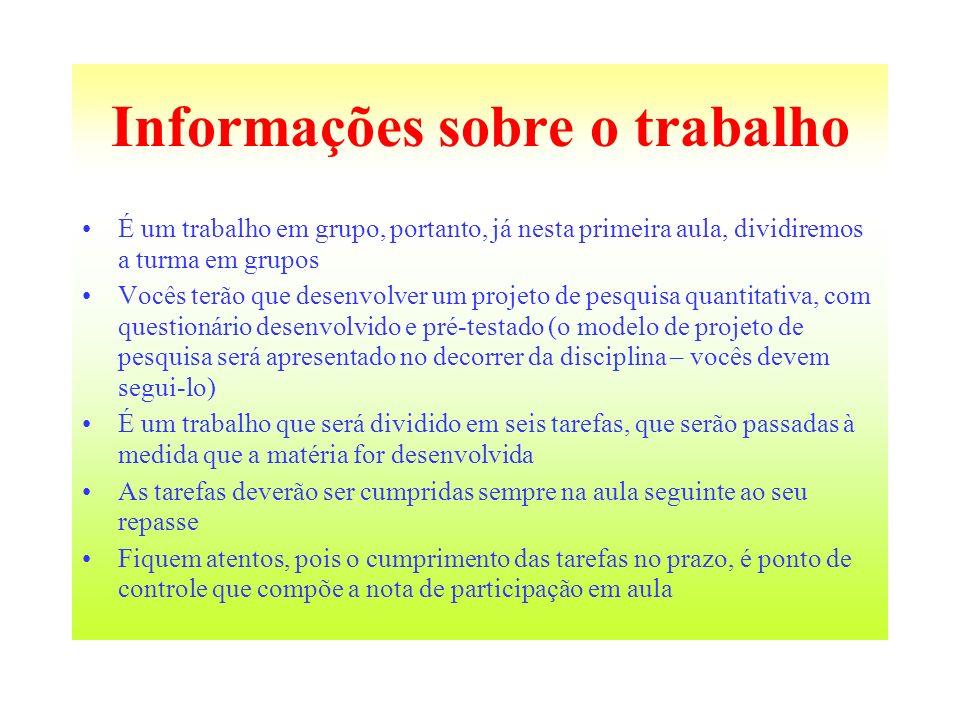 Informações sobre o trabalho