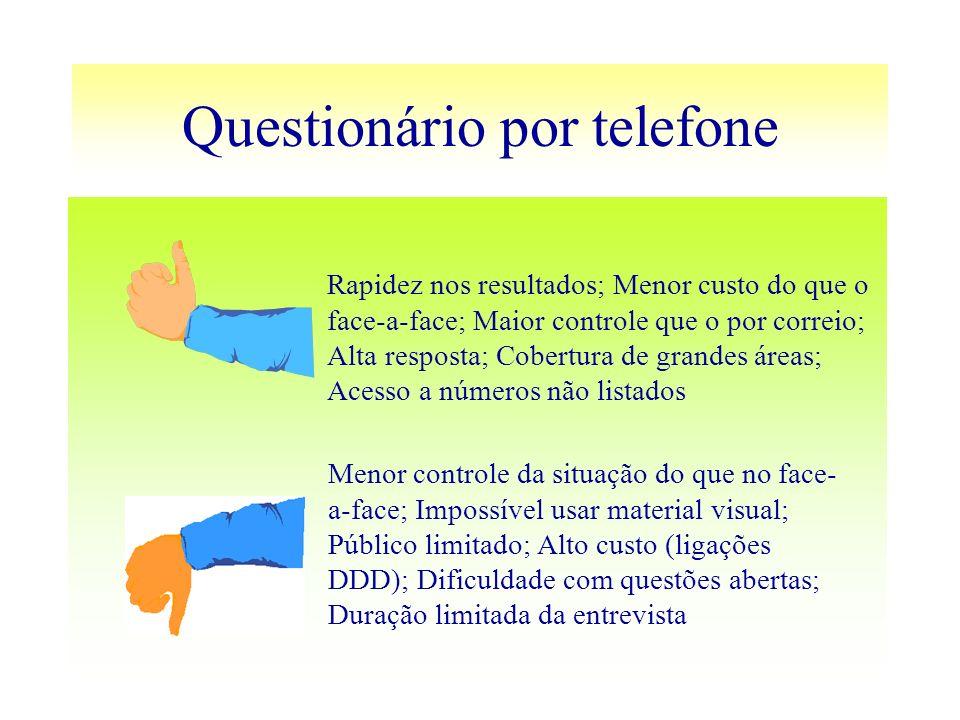 Questionário por telefone
