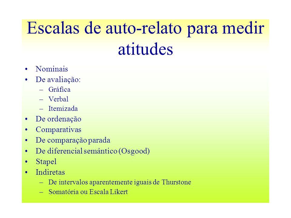 Escalas de auto-relato para medir atitudes