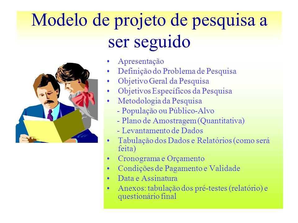 Modelo de projeto de pesquisa a ser seguido