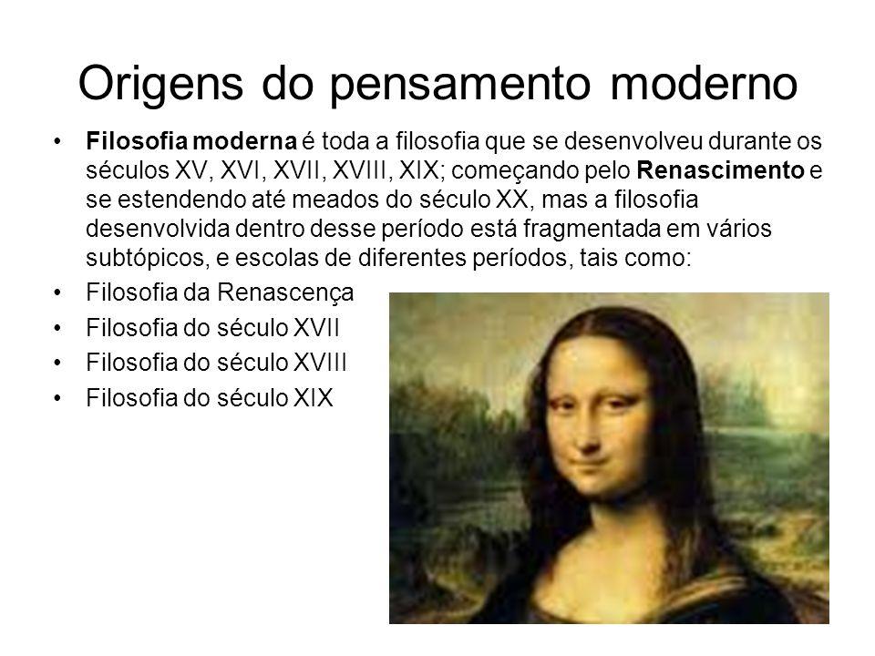 Origens do pensamento moderno