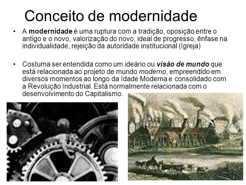 Conceito de modernidade