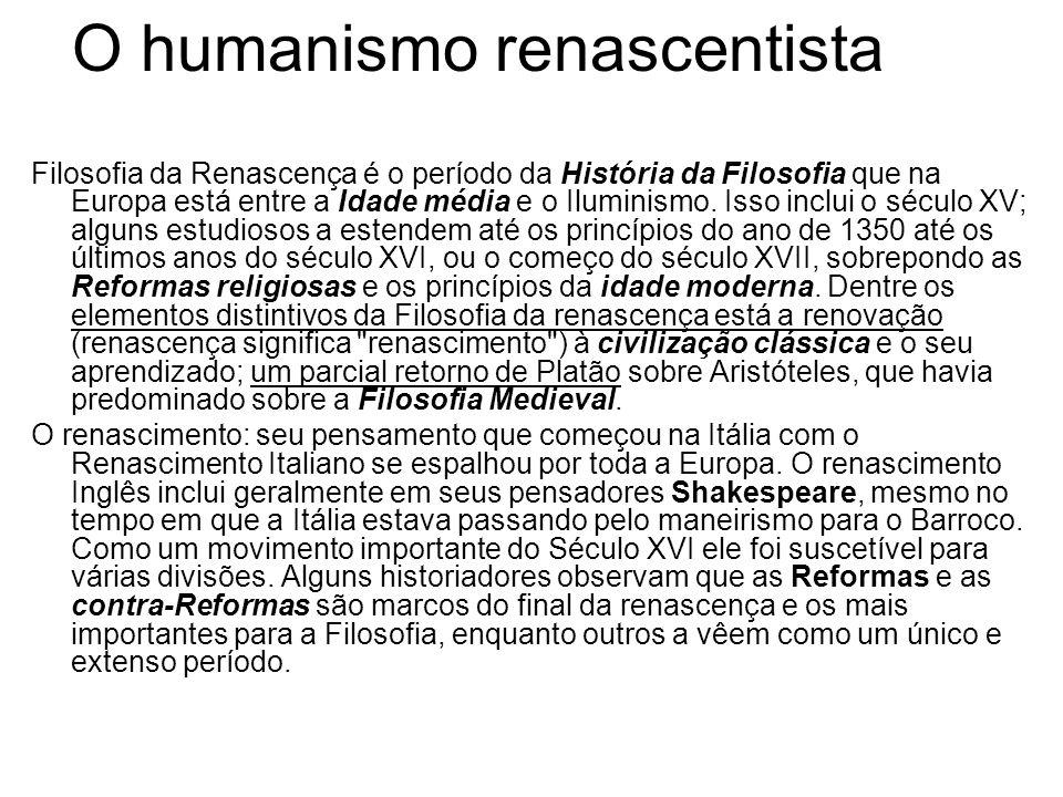 O humanismo renascentista
