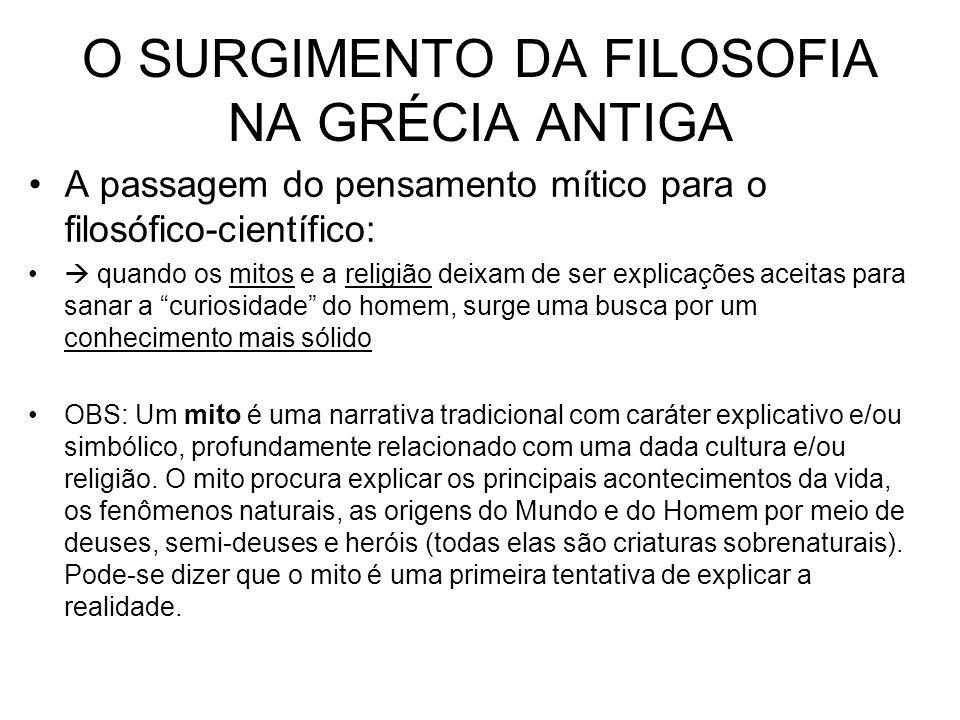 O SURGIMENTO DA FILOSOFIA NA GRÉCIA ANTIGA