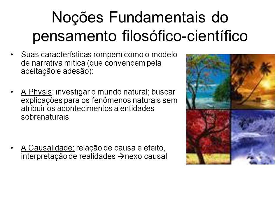 Noções Fundamentais do pensamento filosófico-científico