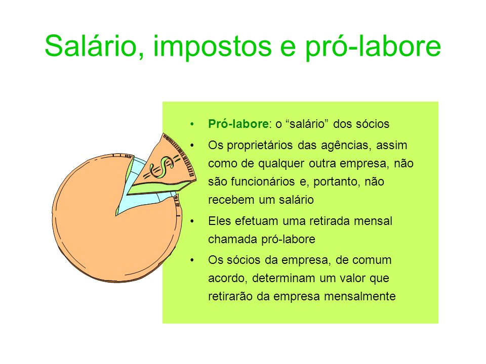 Salário, impostos e pró-labore