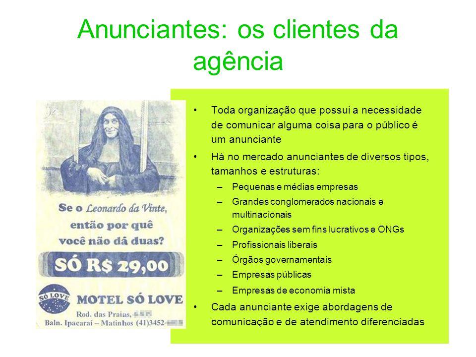 Anunciantes: os clientes da agência