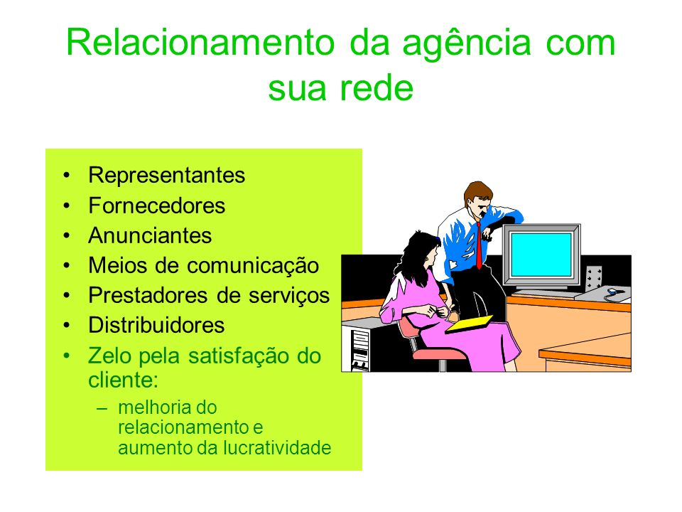 Relacionamento da agência com sua rede