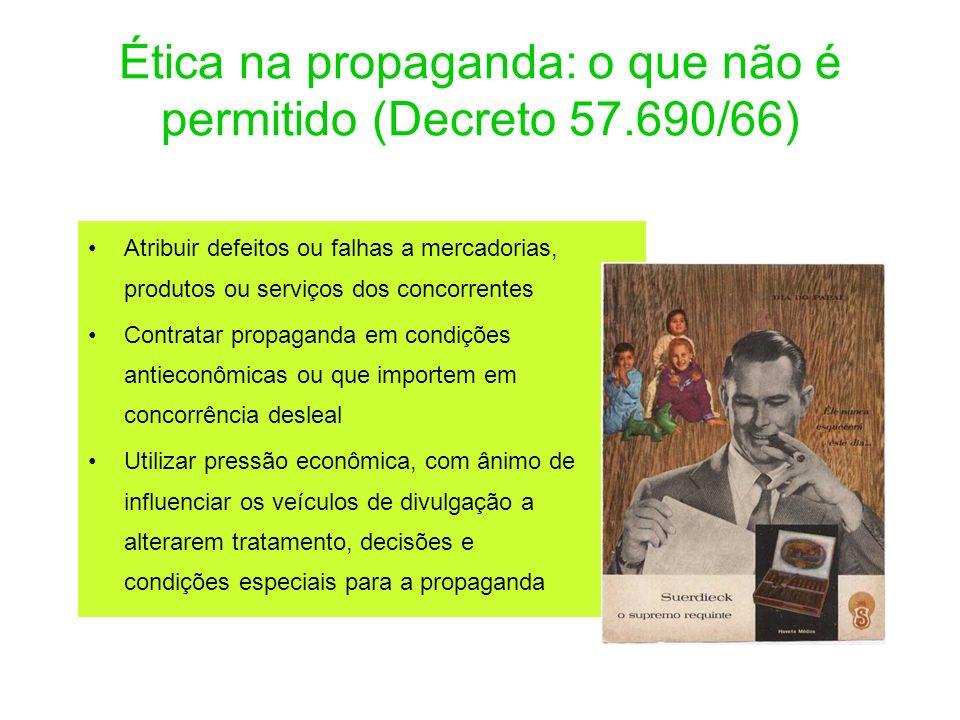 Ética na propaganda: o que não é permitido (Decreto 57.690/66)