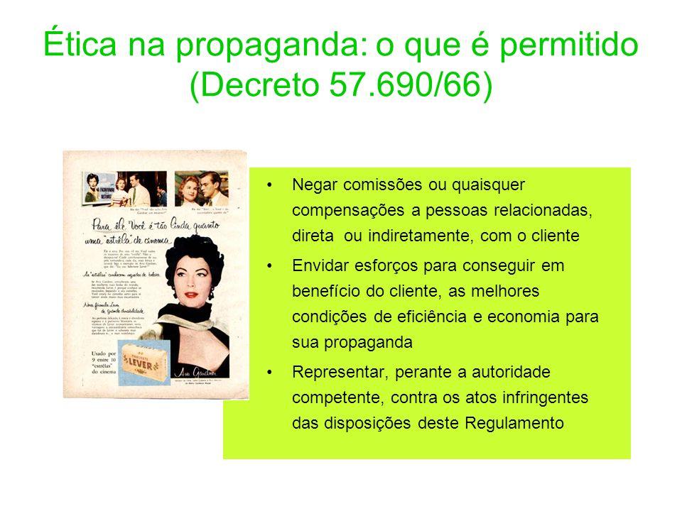 Ética na propaganda: o que é permitido (Decreto 57.690/66)