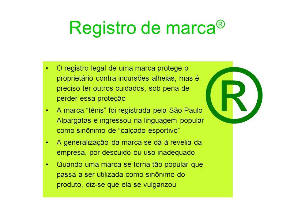 Registro de marca® ®
