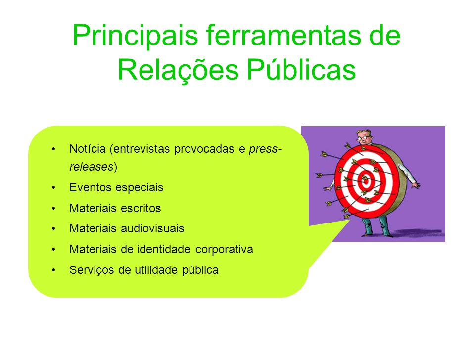 Principais ferramentas de Relações Públicas