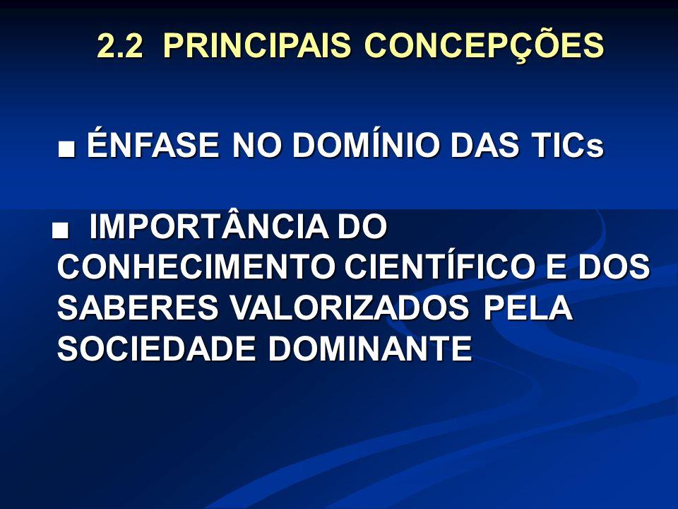 2.2 PRINCIPAIS CONCEPÇÕES