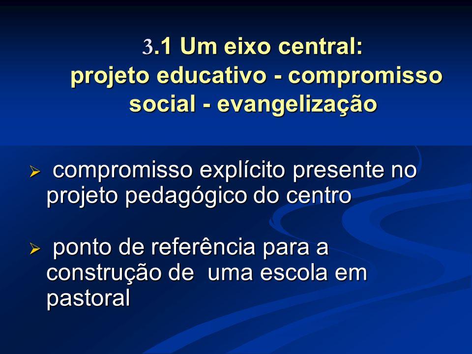 compromisso explícito presente no projeto pedagógico do centro