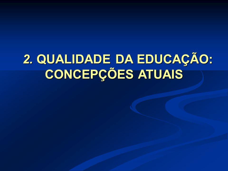 2. QUALIDADE DA EDUCAÇÃO: CONCEPÇÕES ATUAIS