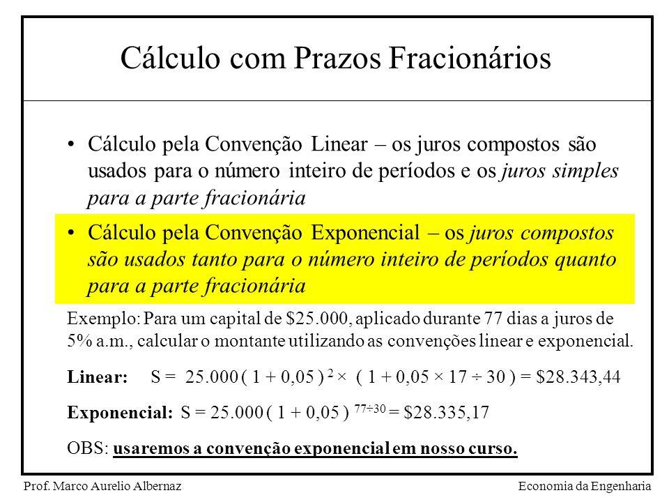 Cálculo com Prazos Fracionários