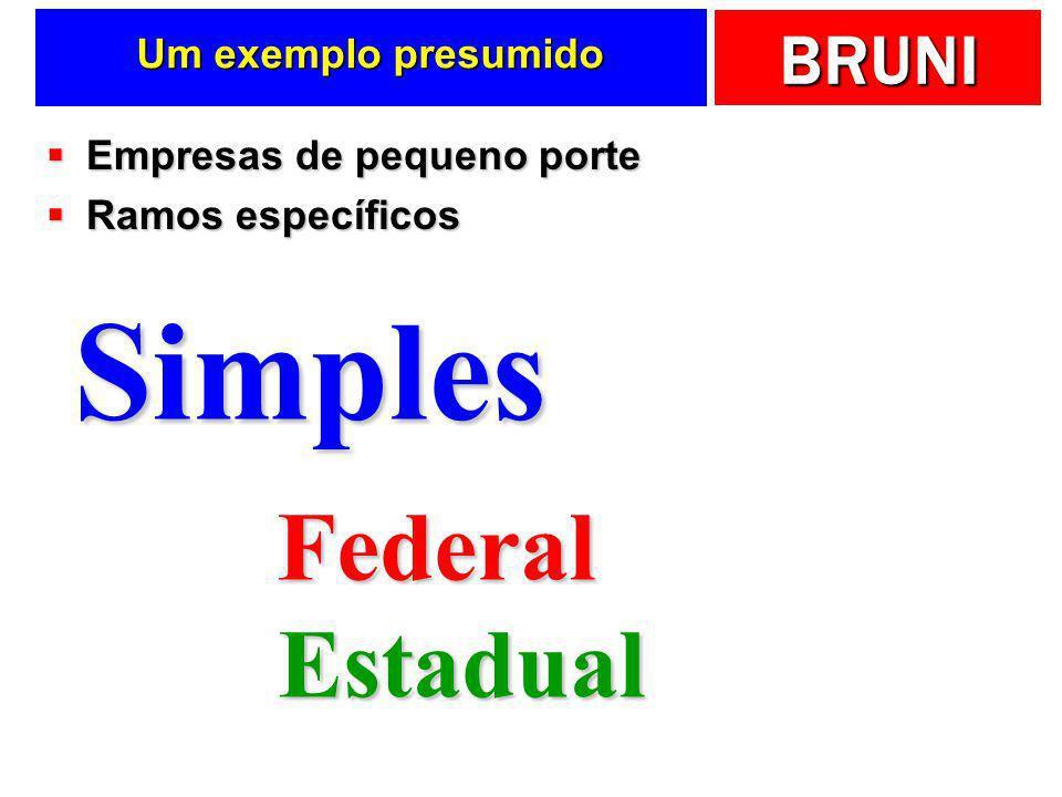 Simples Federal Estadual Um exemplo presumido