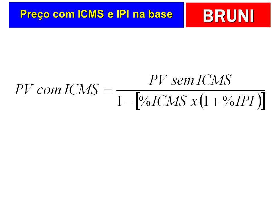Preço com ICMS e IPI na base