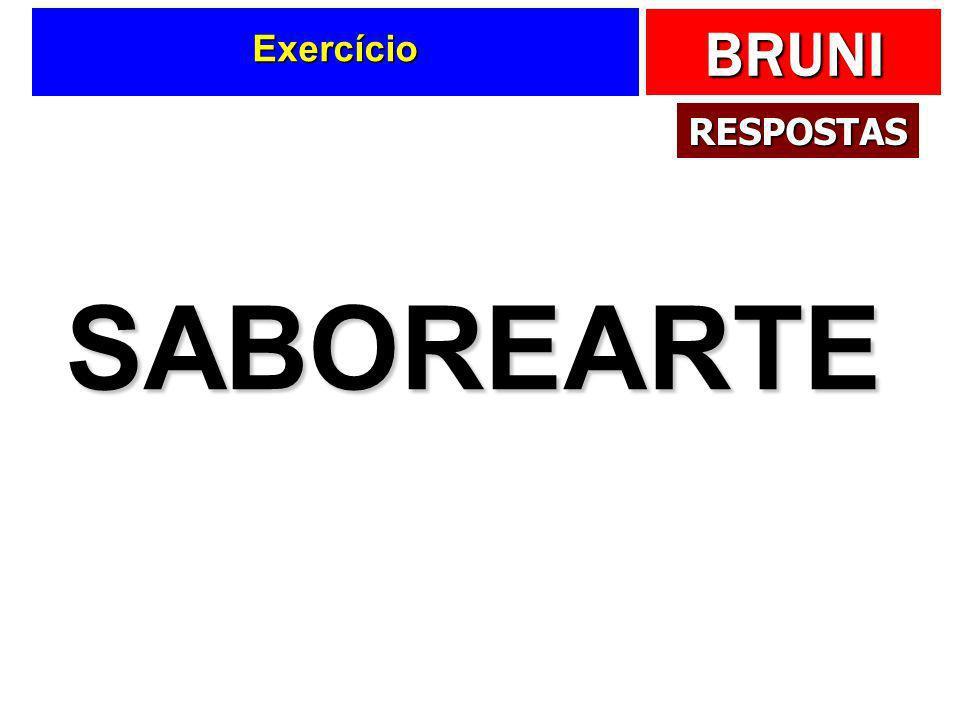 Exercício RESPOSTAS SABOREARTE