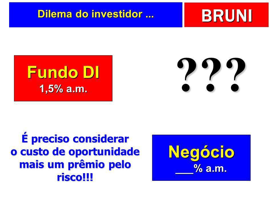 Fundo DI Negócio Dilema do investidor ... 1,5% a.m.