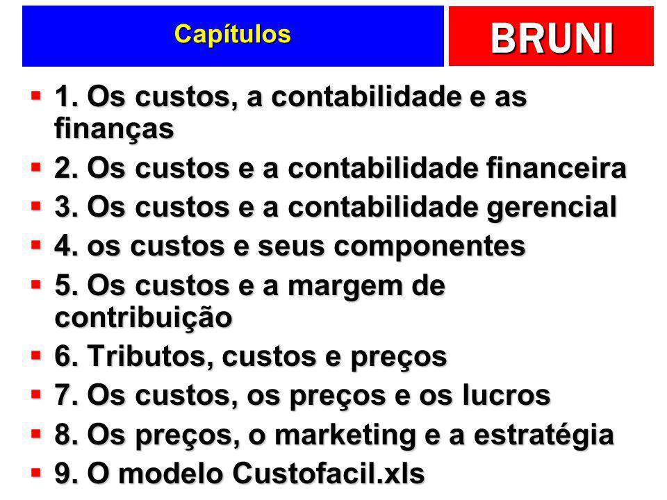1. Os custos, a contabilidade e as finanças