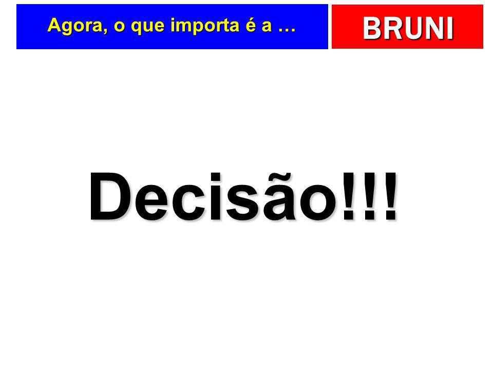 Agora, o que importa é a … Decisão!!!