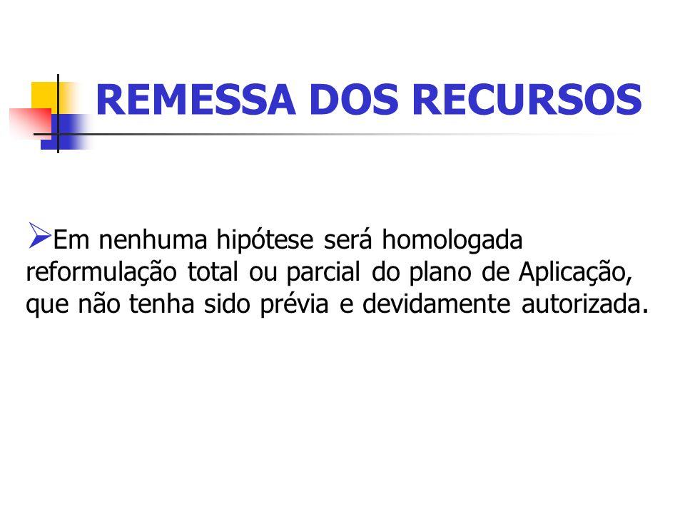 REMESSA DOS RECURSOS
